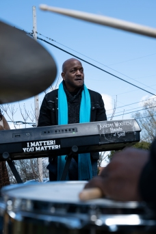 "Wooten performed to ""bring people together"", after the recent tornado."